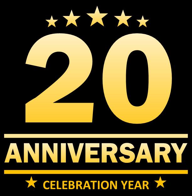 20th Anniversary Logo - Black